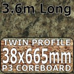 Jamocha Granite Narrow Breakfast Bar 3.6m Gloss