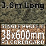 Axiom Jamocha Granite Etched Worktop 3.6m