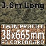 Axiom Jamocha Granite Etched Narrow Breakfast Bar 3.6m