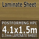 Light Blocked Walnut Laminate Sheet 4120mm X 1510mm