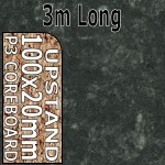 Axiom Midnight Stone Upstand 3m