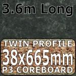 Axiom Midnight Stone Narrow Breakfast Bar 3.6m