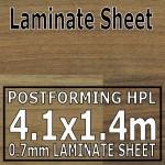 Natural Block Walnut Laminate Sheet 4120mm X 1400mm