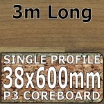 Natural Block Walnut Worktop 3000mm