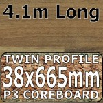 Natural Block Walnut Worktop Breakfast Bar 4100mm