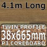 Natural Block Walnut Worktop Breakfast Bar 4100mm