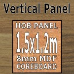 Natural Block Walnut Hob Panel 1500mm