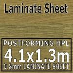 Natural Oak Block Laminate Sheet 4100mm X 1300mm