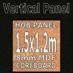 Noir Hob Panel 1.5m