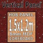 Ruby Quartz Hi-gloss Hob Panel 1500mm