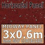 Ruby Quartz Hi-gloss Midway Panel 3030mm