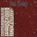 Ruby Quartz Hi-gloss Upstand 3m upstand