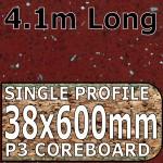Ruby Quartz Hi-gloss Worktop 4100mm