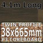 Soft Walnut Blocked Worktop Breakfast Bar 4100mm