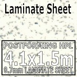 Strass Blanc Metallic Laminate Sheet 4120mm X 1510mm