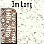 Strass Blanc Metallic Upstand 3m upstand