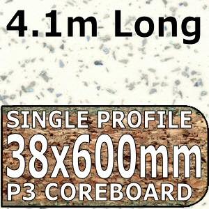 Strass Blanc Metallic Worktop 4100mm