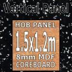 Strass Noir Metallic Hob Panel 1500mm