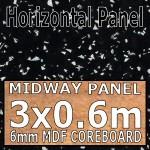 Strass Noir Metallic Midway Panel 3030mm