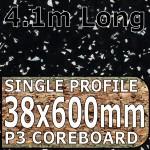 Strass Noir Metallic Worktop 4100mm