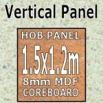 Vanilla Quartz Hi-gloss Hob Panel 1500mm
