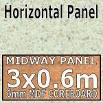 Vanilla Quartz Hi-gloss Midway Panel 3030mm