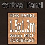 Wenge Blocked Hob Panel 1500mm