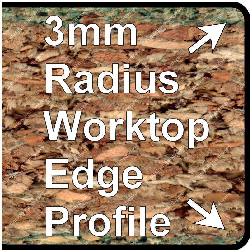 3mm Radius 40mm Worktop-Breakfast Trims