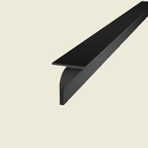 Black bedroom furniture sets - 38mm Black Worktop Joining Strip